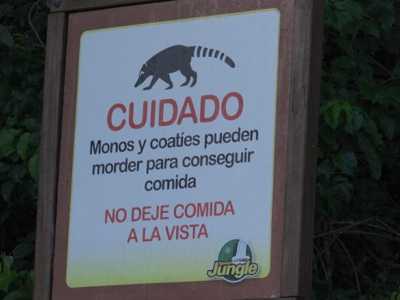 Cuidado sign Iguazu